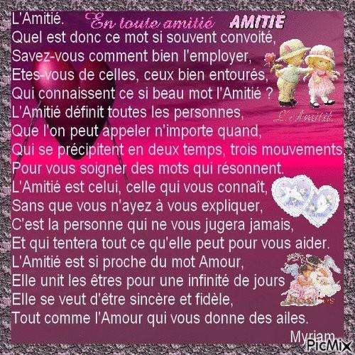 Les Poemes Amitie